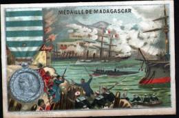 63 - CHROMO MAISON CABOURET - A. DAGRON, PARIS - MEDAILLE DE MADACASCAR - Chocolat