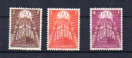 Luxembourg 1957, Europa, 531 / 533**, Cote 150 €, - 1957