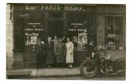 Carte Photo Commerce Ets PARIS MEDOC Paris 5 Ou 14 Immat Moto RF2 De 1932 - France