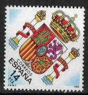 TIMBRE ESPAGNE NOUVEAU 1983 NOUVEL ARMES CONSTITUTIONNEL DE LA DÉMOCRATIE EN ESPAGNE - Sellos