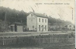 Cpa Pavillon-les-grancey  La Gare - Other Municipalities