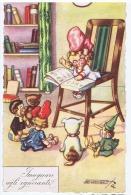 SGRILLI - ART DECO POSTCARD - TOYS - DOLLS - PINOCCHIO - TEDDY BEAR - N. 1829-2 - Illustratori & Fotografie