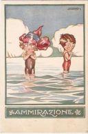 SGRILLI - ART DECO POSTCARD - KIDS '' ADMIRATION  ''   -  565-3 - Non Classés