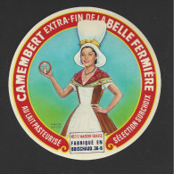 Etiquette De Fromage  -  La Belle Fermière  -   Boischaud  (36 B ) - Fromage