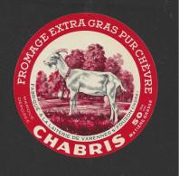 Etiquette De Fromage De Chèvre  -  Chabris  -   Lait. De Varennes Sur Fouzon  (36)  -  50 Pour Cent - Cheese