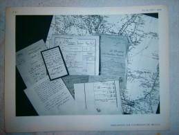 FEUILLE    DOCUMENTS SUR SAVORGNAN DE BRAZZA  DIM 31 X 24 CM - Vieux Papiers