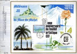 Feuillet Tirage Limité CEF Spécial 1 Milllénaire Du Mont St Michel - France