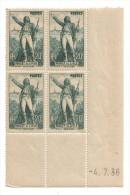 1936 - Coin Daté Neuf ** - N°314 Rouget De Lisle - Côte 45euros - 1930-1939