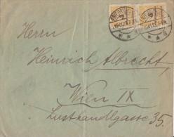 DR Brief Mef Minr.2x 327B Friedrichroda 15.11.23 Gel. Nach Österreich - Deutschland