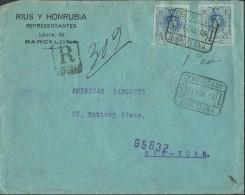 España 1915. Correo Certificado De Barcelona A Nueva York. - Briefe U. Dokumente