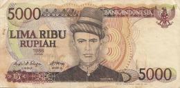 5000 Lima Ribu Rupiah 1986, Banknote Indonesien - Indonesien