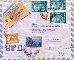 ARGENTINA - 5 Fach Frankierung Auf Alten Reco Brief  Gel.v.Buenes Aires N.Oberbiel Alemania - Argentinien