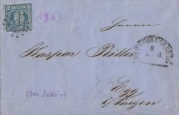 Bayern Brief EF Minr.10 Bahnhof Augsburg 2.3.1862 - Bayern