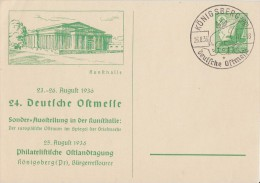DR Privat-Ganzsache Minr.PP142 C5/01 SST Königsberg 26.8.36 - Deutschland