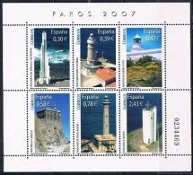 Spain Mint 2007 -  Lighthouses - Blocs & Hojas