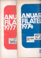 ANUARIOS FILATELICOS DEL CORREO ARGENTINO ENCOTEL AÑOS 1974-1975 Y 1976 Y 1977 - Tijdschriften