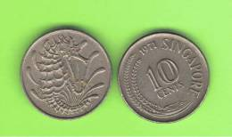 SINGAPUR - SINGAPORE -  10 Cents KM3  -  Ver Años - Look Years - Singapur