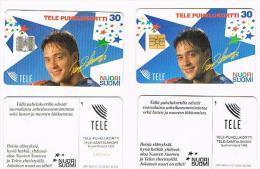 FINLANDIA (FINLAND) - TELE (CHIP) -  1995  TEEMU SELANNE (LOT OF 2 WHIT DIFFERENT CHIP) -  USED -  RIF. 8153 - Finlandia