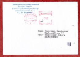 Brief, Postfreistempel Bratislava 1995 (55480) - Cartas