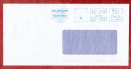 Brief, Absenderfreistempel, Les Affiches, Moniteur, Schilt.Strg Nrd 2011 (55522) - France