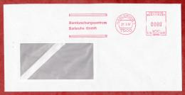 Brief, Hasler C54-4446, Kernforschungszentrum Karlsruhe, 80 Pfg, 1987 (55673) - BRD