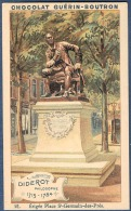 Chromo Chocolat Guerin-Boutron Les Statues De Paris 21 Diderot écrivain Philosophe Lumières Encyclopédie - Guérin-Boutron