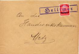 FRANCE LORRAINE LETTRE DE HELLIMER - Marcophilie (Lettres)