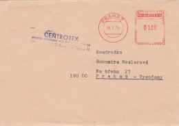 Tschechoslowakei Freistempel 01.00, Ortsbrief, Praha 7 - 10.X.1974, Der Fa CENTROTEX - Checoslovaquia