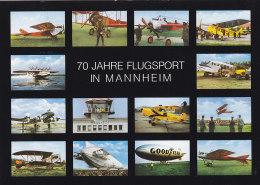 BRD 1033 Auf AK: Luftfahrzeuge Mit Zeppelin Und Sonderstempel: Mannheim 70 Jahre Flugsport 16.3.1980 - BRD
