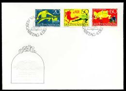 25403) Liechtenstein - Michel 518 / 520 - FDC - Sagen III - FDC