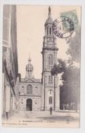 (RECTO / VERSO) VERDELAIS EN 1905 - L' EGLISE AVEC PERSONNAGE - BEAU CACHET - Verdelais