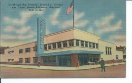 Greyhound Bus Terminal Station, Baltimore, Maryland, MD, 1940´s To 1950´s Linen Postcard # 9159 - Baltimore