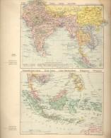 12 Antiguos MAPAS ALEMANES  VOYAGES ZEPPELIN 1929  FLUGPOSTLINIEN AIRMAIL LINES ROUTES D'AVION RARES ORIGINAL STUTZPUNKS - Geographische Kaarten