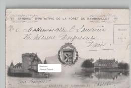 Belle Lettre-pli En 2 Volets Du SYNDICAT INITIATIVE De La Forêt De Rambouillet -  Scans Recto Verso - Old Paper
