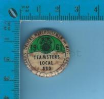 Pin´s Backpin Syndicat  ( 1961 Teamsters Local 880, Mecanics Drivers Warehousement And Misc. Groups )  Pin - Non Classés