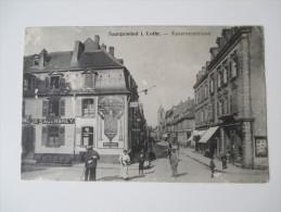 AK / Bildpostkarte 1916 Saargemünd I. Lothringen - Kasernenstrasse. Bayrische Bierquelle Konzerthaus Johann Sauerbrey - Lothringen