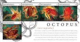 Micronesia -2012-Fish-Marine Life-OCTOPUS SHEETLET OF 5 - Marine Life