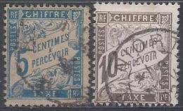 France Taxe N°28-29 Obl. - Portomarken