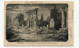 CP , 28 , CHATEAUDUN , La Rue De Chartres Après L'Incendie (18 Octobre 1870) - Chateaudun
