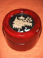 CAJA LACADA CHINA CON ESCENA BUCÓLICA DE ARTESANÍA -China Lacquered Box. - Cajas/Cofres