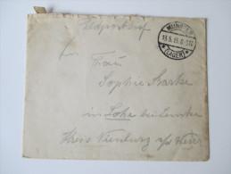 Feldpostbrief 1. WK Munster (Lager) 13.5.1915 - Germania