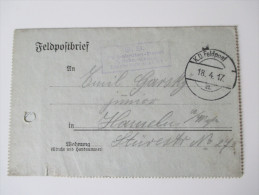 Feldpostbriefe / Kartenbriefe 1917 S. B. Feldrekruten - Depot 2. Rekruten Komp. Deutsche Feldpost Nr. 717 - Germania