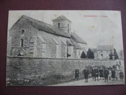 CPA 21 PICHANGES L'Eglise Et Ses Abords 1909 RARE ANIMATION Canton IS SUR TILLE - Autres Communes