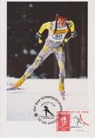 FDC FRANCE 1991 JO D'ALBERTVILLE 1992  SKI DE FOND LES SAISIES - Hiver 1992: Albertville
