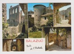 07 - BALAZUC - Divers Aspects Du Vieux Village - Flamme RUOMS - 2 Scans - - France