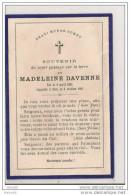 SOUVENIR Du COURT PASSAGE Sur TERRE De MADELEINE DAVENNE,,,08 04 1895 _ 03 10 1895,,,, - Décès