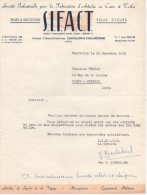 COURRIER S.I.F.A.C.T. SELLES ET SACOCHES POUR CYCLES à CHATILLON SUR CHALARONNE (AIN) 1957 - 1950 - ...