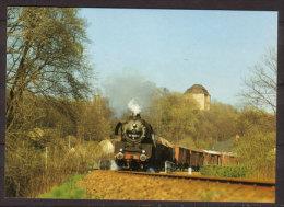 Güterzug Dampflokomotive 50 3523 Mit Nahgüterzug Hinter Bahnhof Wolkenburg Am 27.4.1982 - Trains
