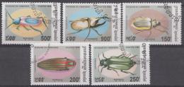 CAMBODJA  MI.NR.1446-1450 KÄFER USED / GEBRUIKT / OBLITERE 1994 - Camboya