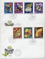 HUNGARY 1974 Butterflies Set On 2  FDCs.  Michel 2994-3000 - FDC